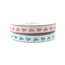 "Baby Shower Printed Grosgrain Ribbon, 3/8"", 5/8"", 7/8"", 1.5"""