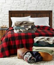 Pendleton King Eco-Wise Washable Wool Blanket In Red Plaid $500 BNWT