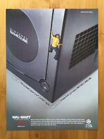 Nintendo Gamecube 2003 Jet Black Console Vintage Print Ad/Poster Walmart Promo