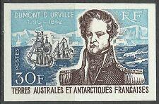 Taaf Fsat Amiral Dumont d' Urville Navy Non Dentele Imperf Proof Essay ** 1968