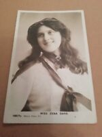 MISS ZENA DARE ( EDWARDIAN ACTRESS ) POSTCARD WRITTEN AND POSTED 1904
