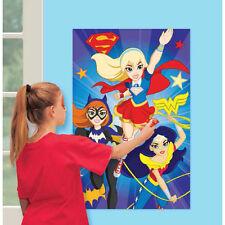 DC SUPER HERO GIRLS PARTY GAMES BATGIRL SUPERGIRL WONDER WOMAN WALL DECORATION