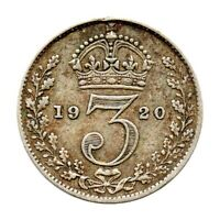 Threepence - 3d - George V - Great Britain 1920 (VF)