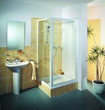 Duschkabine 90x90 185 cm hoch Drehtür Schwingtür und Seitenwand Duschabtrennung