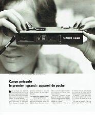 Publicité Advertising 037  1975  Canon  appareil photo 110 ED de poche