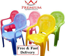 Kids / Childrens Strong Plastic Chair Chairs - Great Dog Design (Choose Colour)