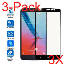 3x Full Cover Tempered Glass Screen Protector for ZTE MAX XL N9560 /Blade MAX 3