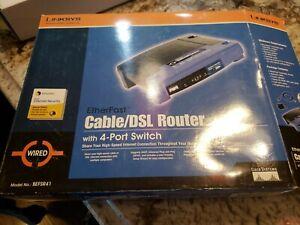 Linksys BEFSR41 4-Port 10/100 Wired Router (BEFSR41 v4) new EtherFast