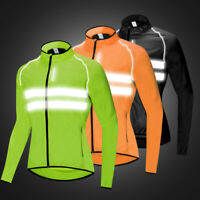 Bike Cycling Jacket High Visibility Reflective Jersey Windstopper Windproof Coat