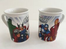Set Of 2 Avengers Assemble Marvel Mugs Iron Man Cap America Thor Hulk Coffee Tea