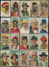 1910 T113 Recruit, Sub Rosa, Sweet Caporal TYPES OF NATIONS -Partial Set (40/50)