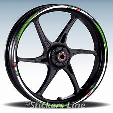 Adesivi ruote moto strisce cerchi per KAWASAKI ZX-7R ZX7R Racing3 stickers wheel