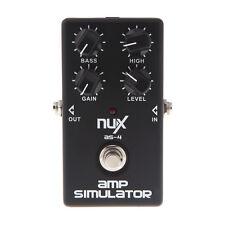 NUX AS-4 Simulator Amplifier Guitar Effect Pedal Cabinet Sound Distortion
