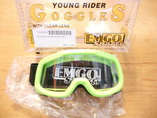 NOS Emgo Green Young Rider Goggles With Clear Lens 76-49586
