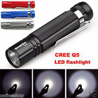 7W CREE Q5 LED 1200LM Waterproof Mini Flashlight Torch Light 14500/AA Lamp