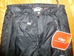 Outdoor Research OR NEOPLUME Primaloft Full Zip Insulated PANTS Black XS