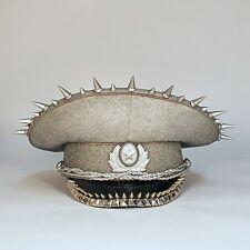 Silver Star Burning Man/Festival Sequin Military Hat