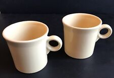 HLC Fiestaware IVORY Coffee Mugs Cup Set of 2 Ring Handle Fiesta Brand New