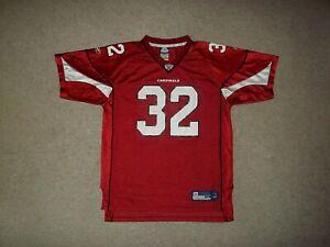 Rare Reebok Edgerrin James Arizona Cardinals Red #32 Youth Boy's XL 18-20 Jersey