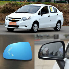 Rearview Mirror Blue Glasses LED Turn Signal with Heating For Chevrolet Sail