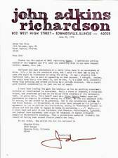 Vintage 1976 letter by JOHN ADKINS RICHARDSON with an Al Hirschfeld anecdote.