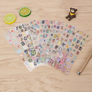 Colourful numbers and letters Self-Adhesive children's crafts scrapbook stickers