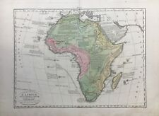 "L'Africa Original 1830 Girolamo Tasso Africa Map Le Sage ""Atlante Storico..."""