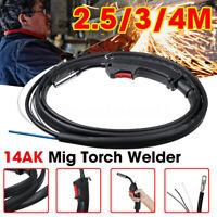 14AK Gas Electric Replacement Mig Welder Welding Soldering Torch Gun 2.5/3/4M