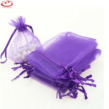 1/100pcs Organza Wedding Party Favor Gift Candy Bags Jewellery Pouches 2 Sizes