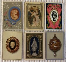 6 Vintage Playing Cards ~ Greek Mythology ~ Statues/Jewelry/Cameo ~Joker