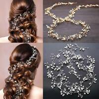 Wedding Headdress Simulated Pearl Hair Accessories for Bride Crown Floral