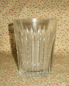 """Antique EAPG National Glass Royal Works Clear 4"""" Tumbler Zippers Ladders ABP"""
