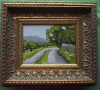 The Sunlit Road : Original Impressionist Oil Painting on Board : Shaun Viney