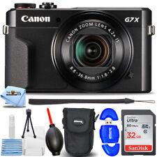 Canon PowerShot G7 X Mark II Digital Camera 1066C001 - Essential 32GB Bundle