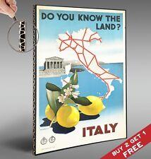 Visiter l'Italie Vintage Poster * voyage touristique publicité rétro art * A4