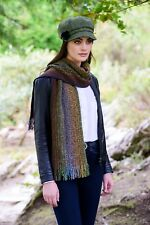 Green Mix Irish Skellig Scarf Cashmere & Merino Wool By Mucros Weavers v59