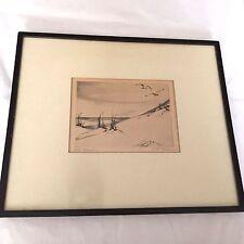 Original Etching Pencil Signed E. B. Warren (1886-1960) Ptown MA 'Far Horizon'