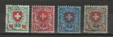 Schweiz Michel-Nr. 194 - 197, Freimarken Wappenschild von 1924, gestempelt