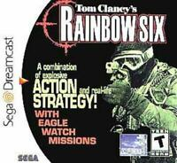 Tom Clancy's Rainbow Six Sega Dreamcast Game Used Complete