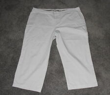 Womens size 18 beige stretch cropped pants made by TARGET
