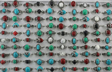 Wholesale Women Jewelry Mixed Lots Assorted Natural Stone Black Rhinestone Rings