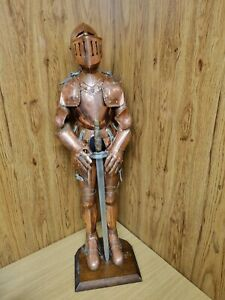 Medieval Knight 90cm Tall Hand Crafted from Copper over 45 years old.