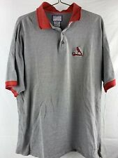 Vintage St Louis Cardinals Baseball Mlb 3 Button Polo Men's Shirt Size Xl