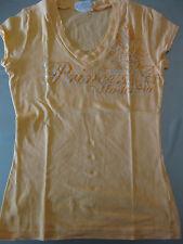 Madonna Shirt T-Shirt Gr. XS 36, Kurzarm, Orange, V-Ausschnitt, Kurzarm, schön