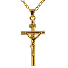 Jesus Cross Golden and Silver Accessories Necklace elegant Charmming chain