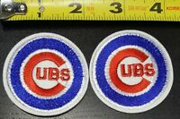 "Lot of 2 Chicago Cubs MLB 2"" Iron/Sew On Patch~FREE SHIPPING FROM THE U.S.~"