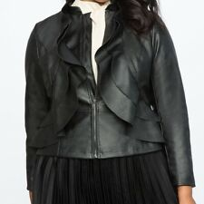 Eloquii Faux Leather Jacket