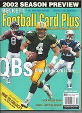 Brett Favre Cover of 2002 Beckett NFL Football Card Plus Green Bay Packers