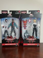 Miles Morales and Gwen Stacy Marvel Legends action figures-Into The Spider Verse