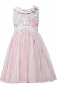 USA Special Occasion Flower Birthday Girls Dress Rose  size 4,5,6,6x